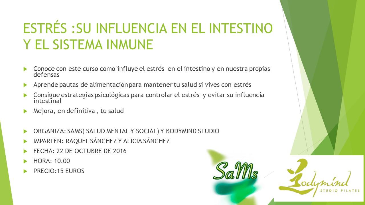 curso de estrés y su influencia en ell intestino y el sistema inmune